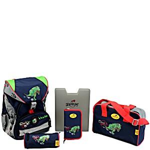Школьный ранец DerDieDas ErgoFlex с наполнением След Динозавра+ нагрудный ремень