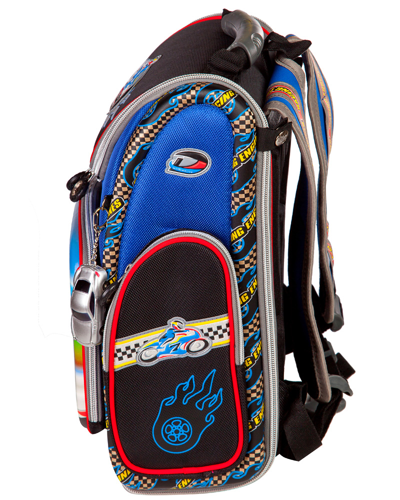 Школьный рюкзак - ранец HummingBird Motomaster K64 с мешком для обуви, - фото 2