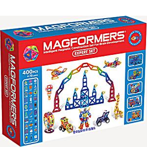 Магнитный конструктор Магформерс Эксперт 400 деталей артикул 63084