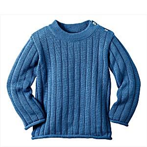Одежда Disana свитер 100% шерсть цвет голубой