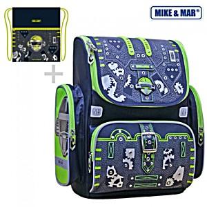 Ранец Mike Mar Майк Мар Робот 1074-ММ-143 + мешок для обуви + пенал